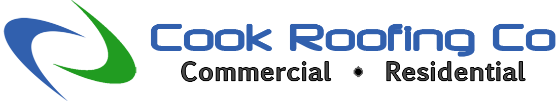Cook Roofing Co logo - horizontal