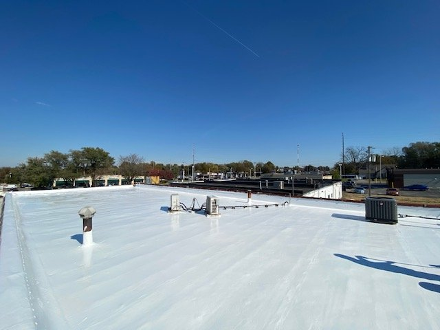 Commercial roof restoration 1