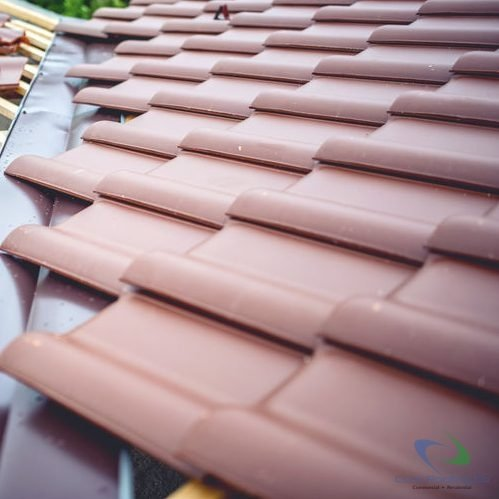 Ceramic tile roof installation 1