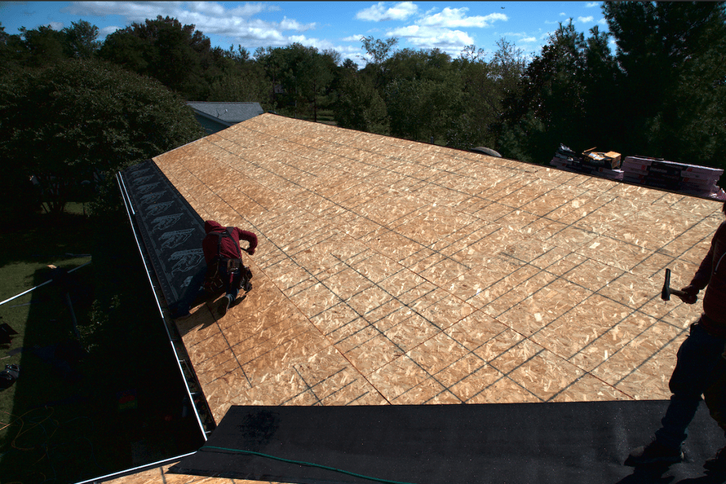 Residential roof installation 1