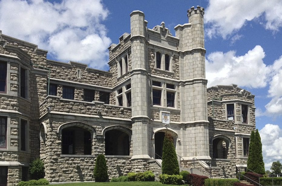 Photo of the Pythian Castle in Springfield MO in summer