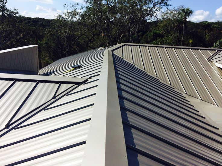 Kynar-finished metal standing seam roofing