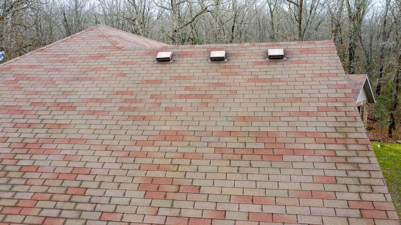Hail damaged 3-tab roof near springfield mo