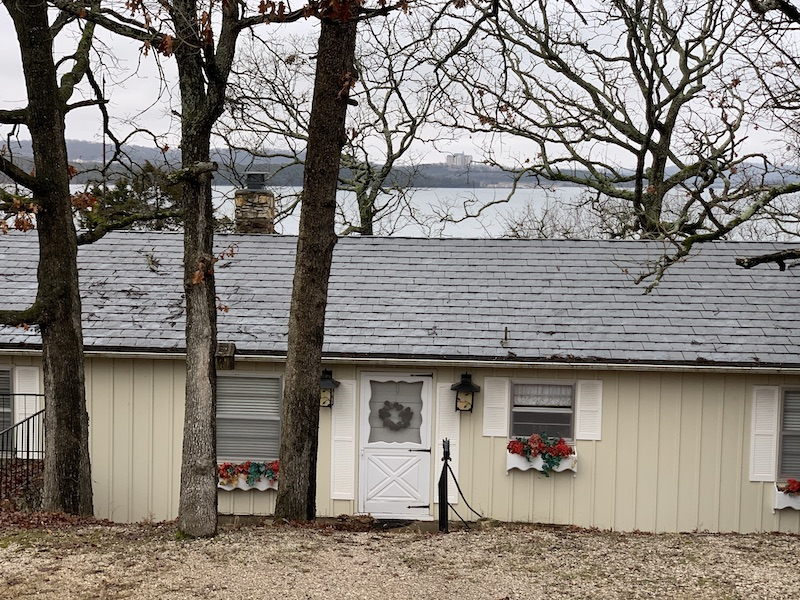 House with rubber shingles near Table Rock Lake