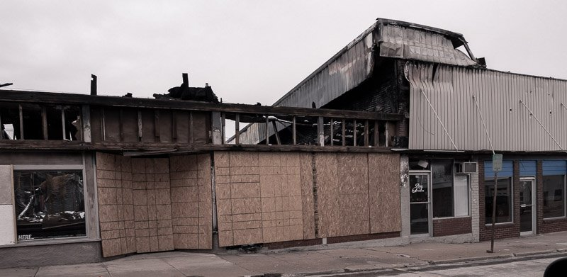 Fire damaged in bolivar mo - store in downtown that burned and needs to be rebuilt