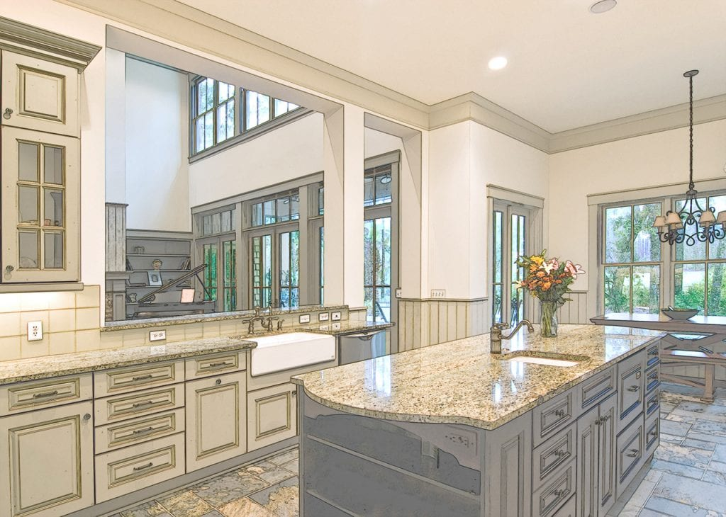 Expensive kitchen remodel example